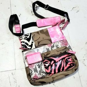 CROSSBODY Adjustable Strap Pink Black Brown White